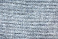 Текстура голубых джинсов безшовных, тканей детали джинсовой ткани для картины и предпосылок, конец вверх Стоковое Изображение