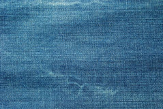 текстура голубых джинсов Стоковое Изображение