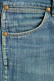 текстура голубых джинсов Стоковое фото RF