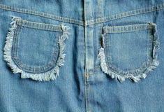 текстура голубых джинсов Стоковая Фотография RF