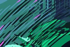 Абстрактная современная предпосылка Творческие красочные формы и формы Геометрическая картина Текстура голубых, зеленого цвета и  иллюстрация штока