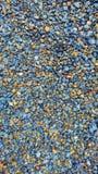 Текстура голубых и коричневых камешков Стоковое Изображение RF
