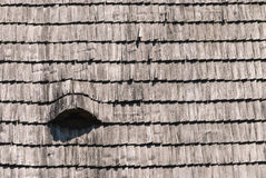 Текстура гонта крыши деревянная Стоковые Фото