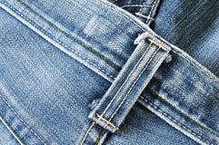 Текстура голубых джинсов Стоковое Фото