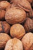 Текстура грецкого ореха Грецкие орехи Брайна большие как предпосылка конец картины грецкого ореха чокнутый вверх по фото Стоковое фото RF