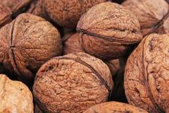 Текстура грецкого ореха Грецкие орехи Брайна большие как предпосылка конец картины грецкого ореха чокнутый вверх по фото Стоковая Фотография RF