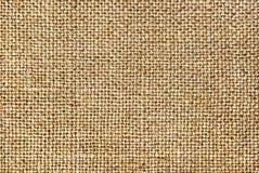 Текстура грубой ткани, мешковины Стоковая Фотография
