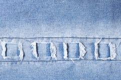 Текстура джинсовой ткани как предпосылка Стоковое Фото