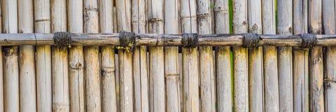 Текстура для ЗНАМЕНИ предпосылки, длинный формат загородки планки старого коричневого тона бамбуковая стоковые изображения rf