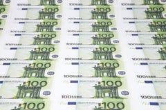 Текстура 100 евро Стоковая Фотография