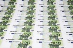 Текстура 100 евро Стоковые Фото