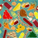 текстура еды безшовная иллюстрация вектора
