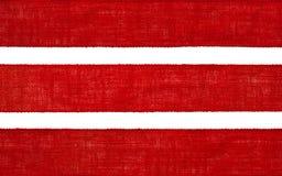Текстура ленты ткани мешковины, край ткани мешка, красный hessian стоковые фотографии rf