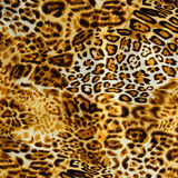 Текстура леопарда печати striped тканью Стоковые Фотографии RF
