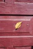 Текстура деревянной maroon двери Стоковые Фотографии RF