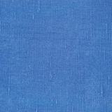Текстура естественного яркого голубого волокна льна Linen, детальный крупный план макроса, деревенский скомканный текстурированны Стоковая Фотография RF
