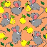текстура животной милой картины мыши безшовная иллюстрация штока