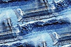 Текстура джинсовой ткани - безшовная предпосылка Стоковые Изображения