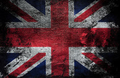 Текстура джинсов флага британцев Стоковые Фотографии RF