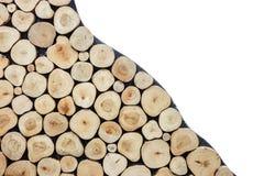 Текстура журнала круглой древесины может использовать для предпосылки Внутреннее decorati Стоковое фото RF