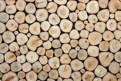 Текстура журнала круглой древесины может использовать для предпосылки Внутреннее decorati Стоковая Фотография RF