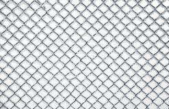 текстура загородки chainlink, котор замерли Стоковая Фотография