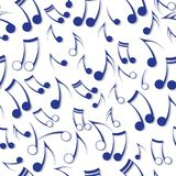 Текстура звука примечания нот. иллюстрация штока