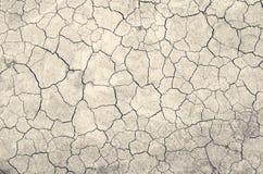Текстура земли высушила вверх засухой, backgroun отказов земли Стоковая Фотография