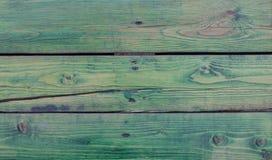 Текстура зеленого цвета деревянных доск предпосылки яркая. Стол Стоковое фото RF