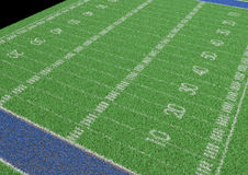 текстура зеленого цвета травы футбола поля предпосылки Стоковая Фотография RF