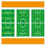 текстура зеленого цвета травы футбола поля предпосылки Стоковые Изображения