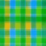 Текстура зеленой ткани шотландки Стоковая Фотография
