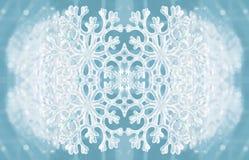 Текстура зимы с снежинкой Стоковое Изображение