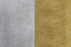 Текстура золота и серебряной фольги абстрактная предпосылка золотистая Стоковая Фотография RF