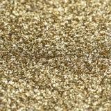Текстура золота сияющая, желтые sequins с предпосылкой нерезкости Стоковая Фотография RF