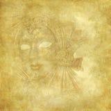 текстура золотистой маски grunge богатая venetian Стоковые Изображения RF