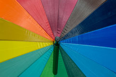 Текстура зонтика цвета радуги Стоковые Изображения RF