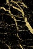 Текстура золота мраморная с естественной картиной для произведения искусства предпосылки или дизайна Стоковая Фотография
