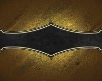 Текстура золота с черной плитой Элемент для конструкции Шаблон для конструкции скопируйте космос для брошюры объявления или пригл Стоковые Изображения RF