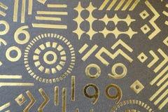 Текстура золотых форм бумажная как предпосылка Стоковые Фотографии RF