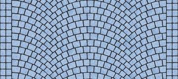 Текстура изогнутая дорогой булыжника 040 Стоковое Изображение RF
