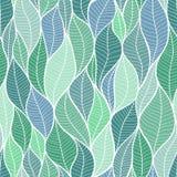 Текстура листьев картина безшовная Стоковая Фотография