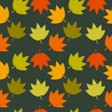 Текстура листьев осени безшовная Стоковая Фотография RF