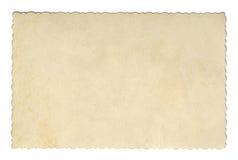 Текстура или предпосылка винтажного коричневого цвета стиля старая бумажная, с неровными сорванными краями Стоковое фото RF