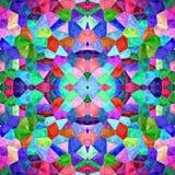 Текстура или предпосылка Kaleidoscopic мозаики безшовная Стоковое фото RF