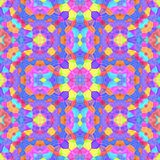 Текстура или предпосылка Kaleidoscopic мозаики безшовная Стоковые Фотографии RF