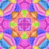 Текстура или предпосылка Kaleidoscopic мозаики безшовная Стоковые Изображения