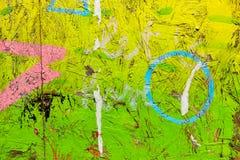 Текстура и краска на макулатурном картоне, настенной живописи граффити Стоковые Изображения RF