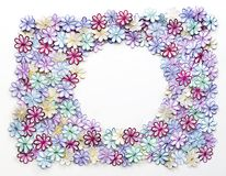 Текстура и предпосылка картины цветков вышивки красочные для g Стоковое Изображение RF
