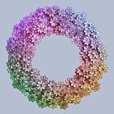Текстура и предпосылка картины цветков вышивки красочные на a Стоковые Изображения RF